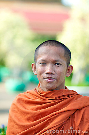 Monk in Cambodia Editorial Stock Image