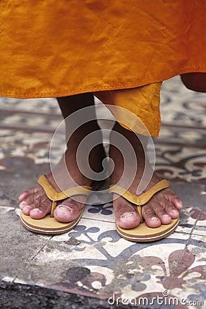 Monk s feet- Phnom Penh, Cambodia