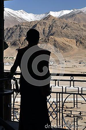 Monk silhouette