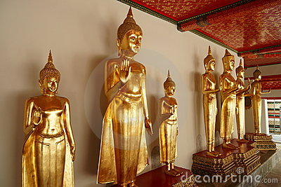 Monk Statues at Wat Pho