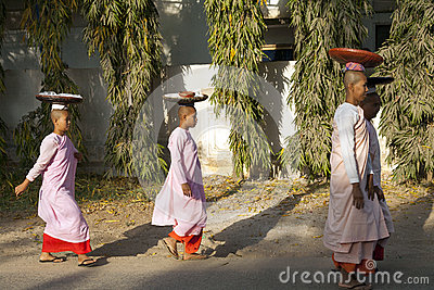 Traditional Burmese Monks Editorial Image