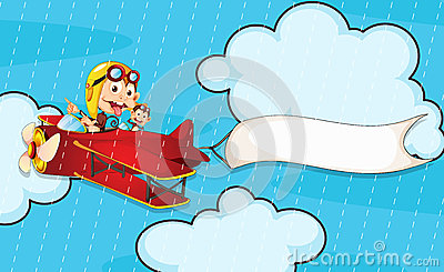 Monkey in airplane