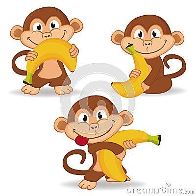 Free Monkey And Banana Royalty Free Stock Photos - 37541038
