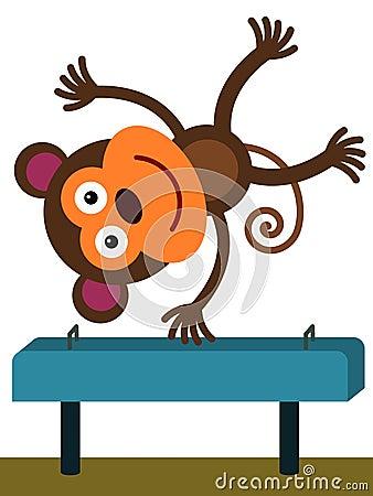 Monkey on a beam
