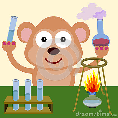 Monkey the chemist