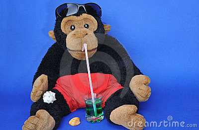 Monkey with drink