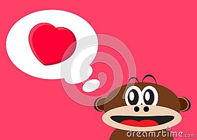 Monkey falling love