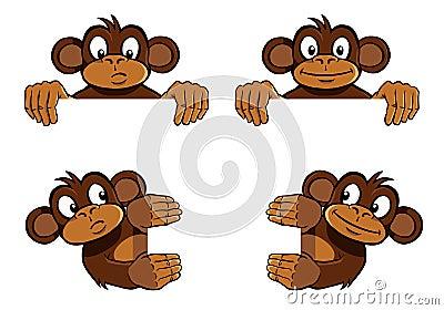 Monkey frame decoration