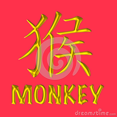 Free Monkey Golden Chinese Zodiac Royalty Free Stock Image - 36980516