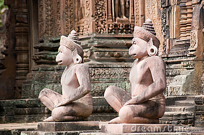 Monkey Guardian statues, Angkor
