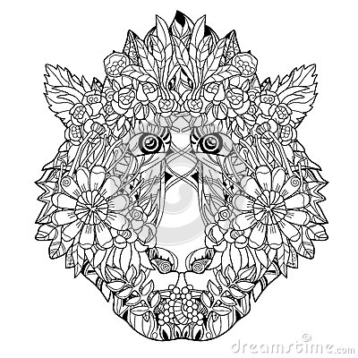 Free Monkey Head Flower Icon-hand Drawn Design Royalty Free Stock Photography - 65016727