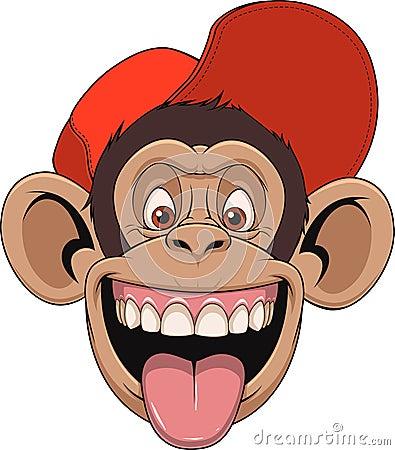 Free Monkey Head In A Cap Stock Photo - 74178570