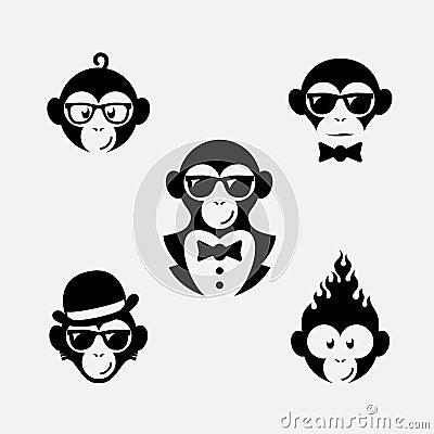 Free Monkey Logos Stock Image - 61946121