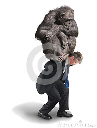 Free Monkey On Your Back Drug Addiction Financial Burden Stock Photos - 50537673