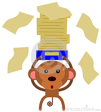 Monkey paper work