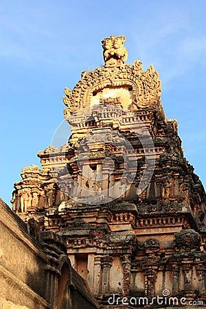 Monkey Temple (Hanuman Temple) in Hampi, India.