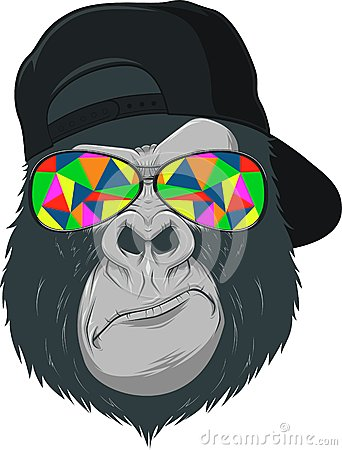 Free Monkey With Glasses Royalty Free Stock Photos - 43041928