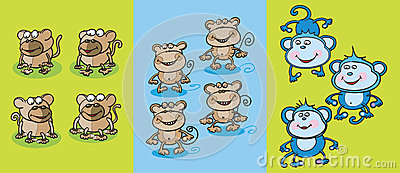 Monkeys clipart