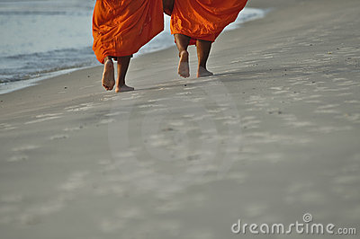 Monks on the beach