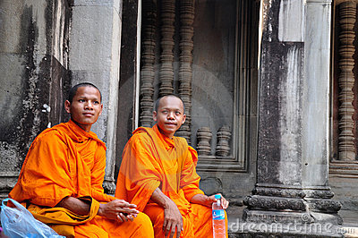 Monks in Cambodia Editorial Stock Photo