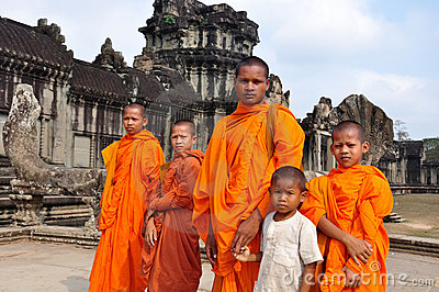 Monks in Cambodia Editorial Photography