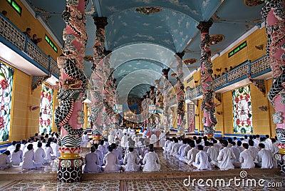 Monks on the floor