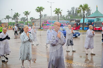Monks In Outdoor Procession Free Public Domain Cc0 Image