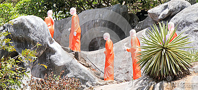 Monks at temple