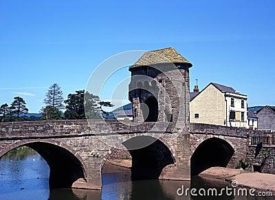 Monnow bridge, Monmounth, Wales.