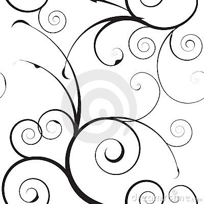 Mono teste padrão floral simples