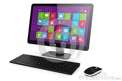Monoblock home PC, keyboard and mouse