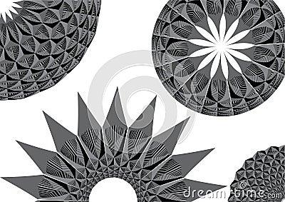 Monochromatic circular patterns