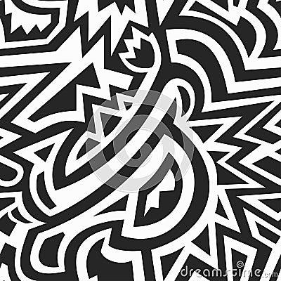 Free Monochrome African Geometric Seamless Pattern Royalty Free Stock Photos - 53771098