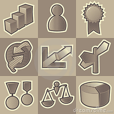 Monochrome business icons