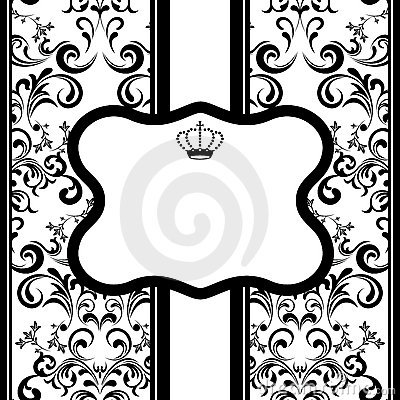 Monochrome decoration frame