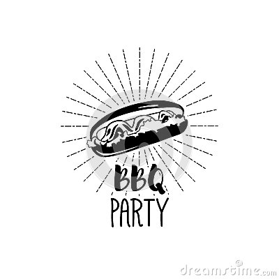 Monochrome Hotdog logo templates and badges for your design. Vector illustration Vector Illustration
