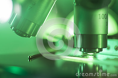 Monochrome Image Of Microscope