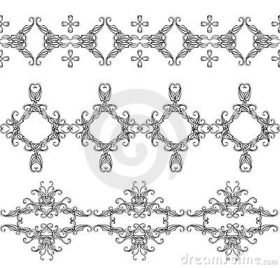 Monochrome interwoven ornaments