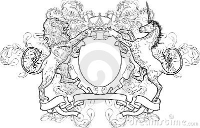 Monochrome Lion and Unicorn Co