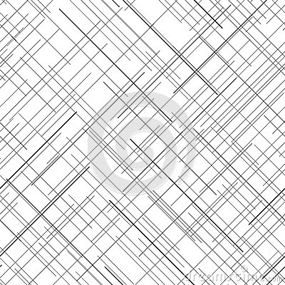Monochrome Seamless Pattern. Diagonal Random Lines ... Vector Spider Web Design