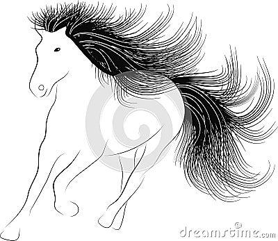 Monochrome silhouette Horse