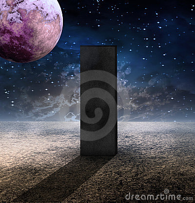 Monolith on Lifeless Planet