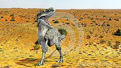 Monolophosaurus desert