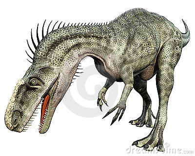 Monolophosaurus front side eating