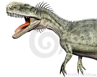 Monolophosaurus side close