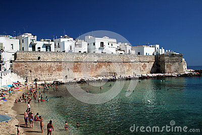 Monopoli walls Editorial Stock Image