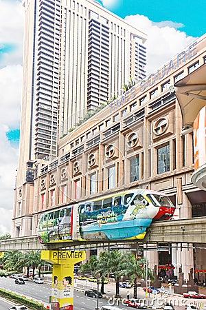 Monorail of Kuala Lumpur Editorial Stock Photo