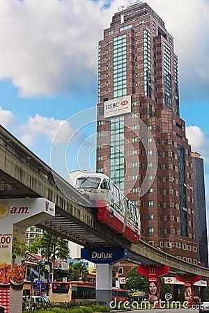 Monorail Kuala Lumpur Editorial Stock Image