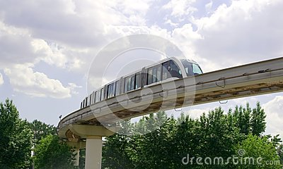 Monorail track