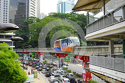 Monorail train station kuala lumpur Editorial Photo